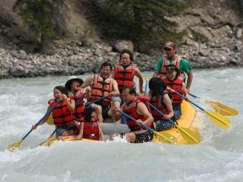 Jasper National Park: 2 Stunden Wildwasser-Rafting