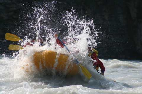 Athabasca Falls: Class 2 White Water Rafting Adventure