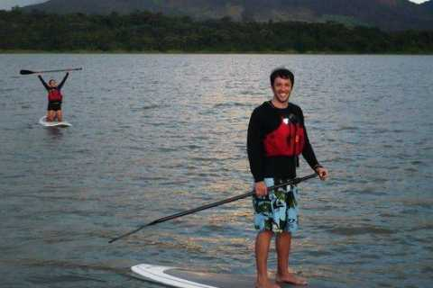 Stand-Up Paddle Crossing on Lake Arenal