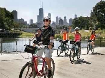Fahrradtour durch die Nachbarschaften am Seeufer Chicagos
