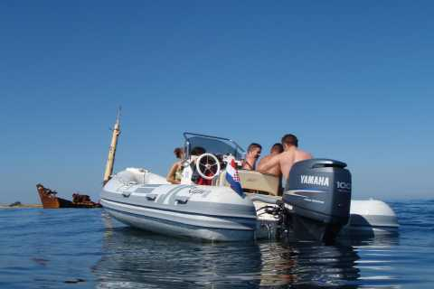 From Zadar: Private Saharun Beach Boat Trip & Zverinac