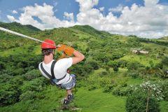 Punta Cana: Percurso com 12 tirolesas