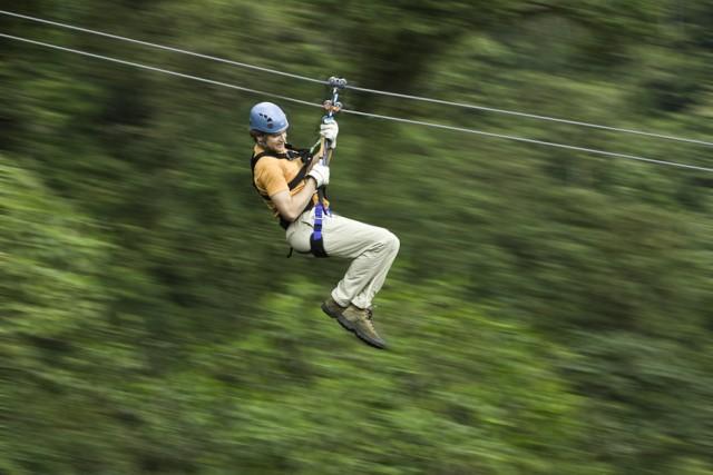 Guanacaste: 5 uur Rainforest Canopy Zipline Tour