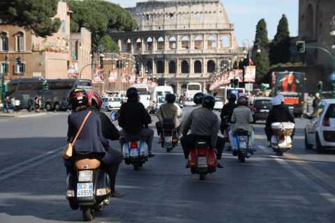 Rome: Half-Day Vespa Tour with Private Driver