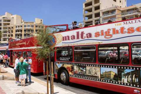 Malta: Hop-On Hop-Off Bus Tours