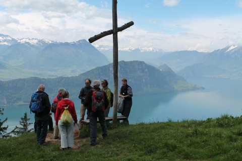 Caminhada guiada do monte Rigi de Lucerne