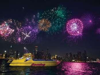 Chicago Seadog Speedboat Feuerwerkskreuzfahrt auf dem Michigansee