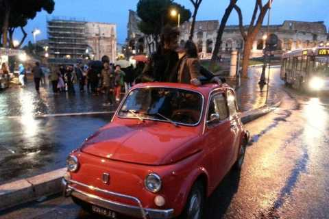 Rome: Romantic Night Tour by Classic Fiat 500