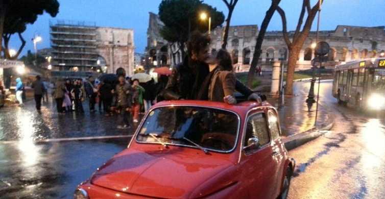 Rome: Romantic Night Tour by Classic Fiat 500