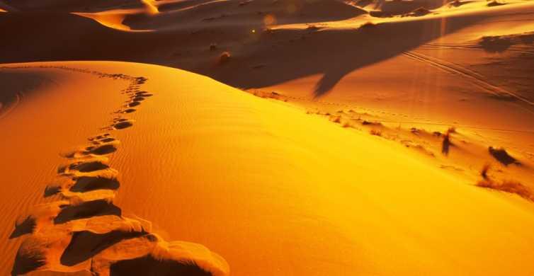From Merzouga: Overnight Camel Trek over Erg Chebbi Dunes