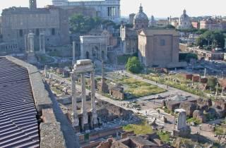 Die Entdeckung Historische Rom: Halbtages Private Tour mit dem Auto
