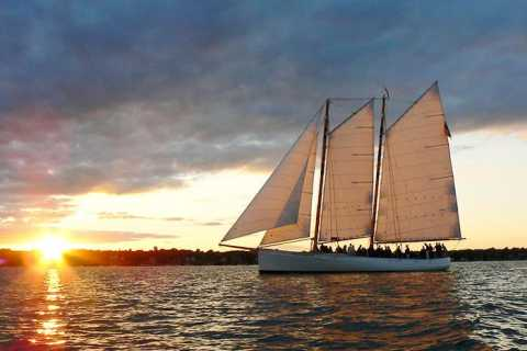 Boston Harbor Champagne Sunset Sail from Rowes Wharf