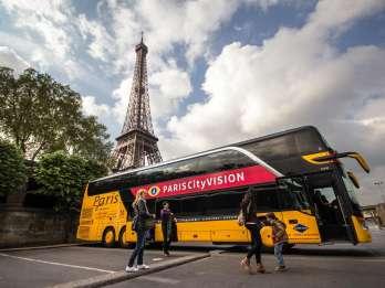 Paris: Bus- & Bootstour mit Audioguide, Eiffelturm & Lunch