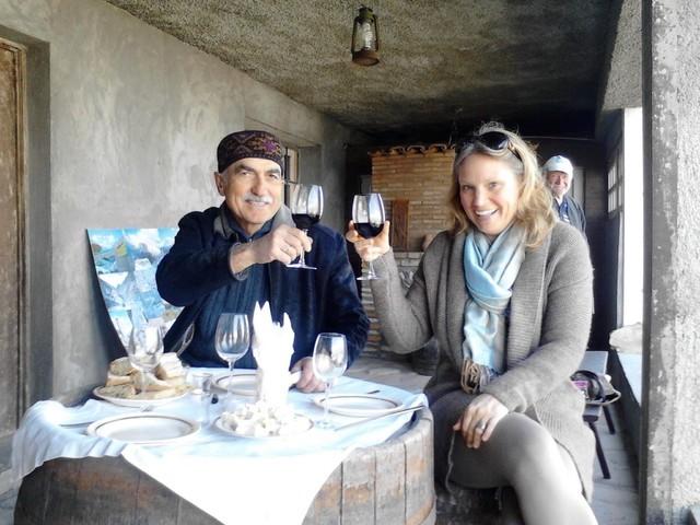 Georgische wijnproeverij van een hele dag