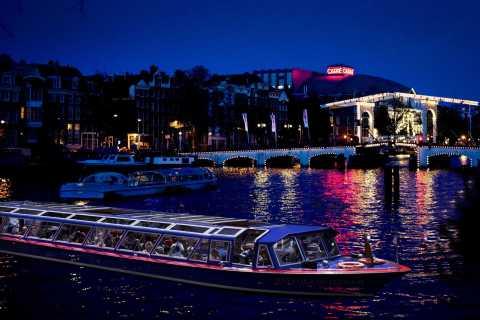 Amsterdam: 1,5 uur durende grachtenrondvaart in de avond