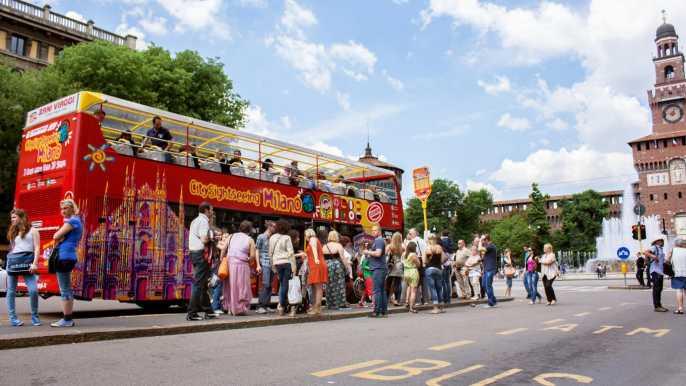 Tour en autobús turístico por Milán: ticket 72h, 48h o 1 día