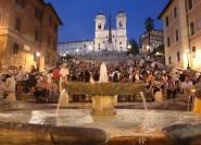 Rom: Sehenswürdigkeiten bei Nacht mit italienischem Aperitif