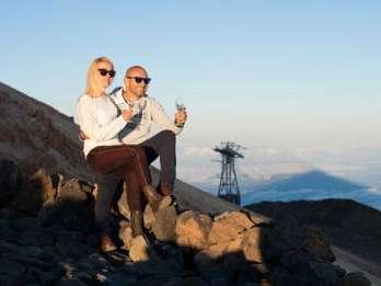 Teide: Sonnenuntergang & Sterne mit Transfer & Abendessen