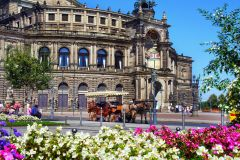 Um passeio pela velha Dresden Semperoper e Liderança