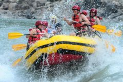 Rafting no Rio Trishuli no Nepal