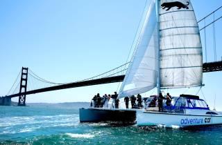 San Francisco Bay: Segel-Bootsfahrt & Alcatraz-Ticket
