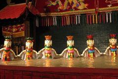 Hanoi: Passeio a pé de comida em rua e espectáculo de marionetas de água