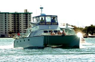 Miami: Private Katamaran-Tour zu einer Sandbank