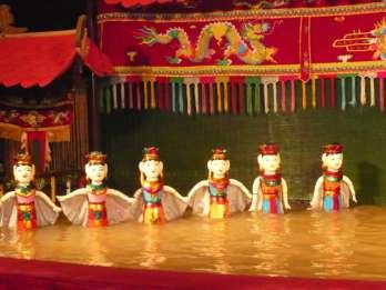 Hanoi: Cyclo-Tour am Abend & Wasserpuppen-Show