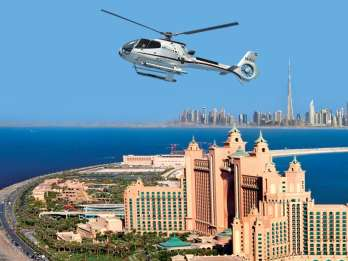 Dubai: Helikopter-Flug von The Palm zum Burj Khalifa