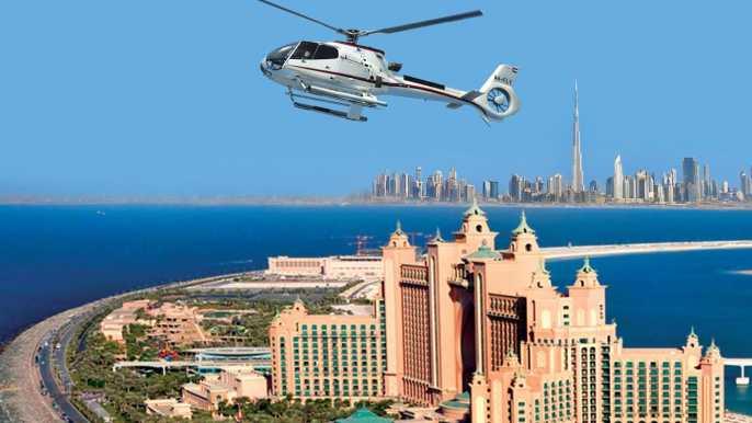 Vuelo en helicóptero sobre Dubái de The Palm al Burj Khalifa