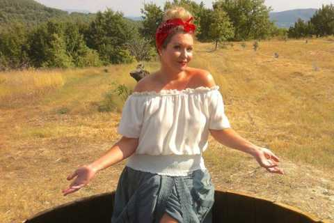 Grape Stomping in Provence