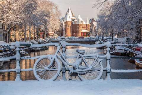 Amsterdam: visite à pied en hiver