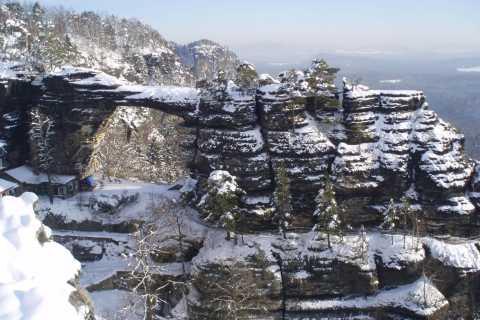 Bohemia & Saxon Switzerland Winter Day Tour from Prague