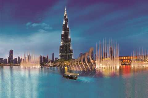 Dubai: fonteinshow en boottocht in traditionele boot