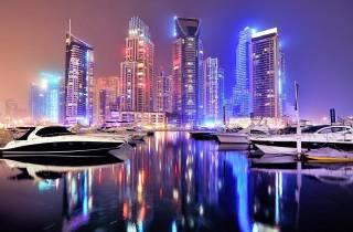 Dubai bei Nacht: Stadtrundfahrt mit Brunnenshow