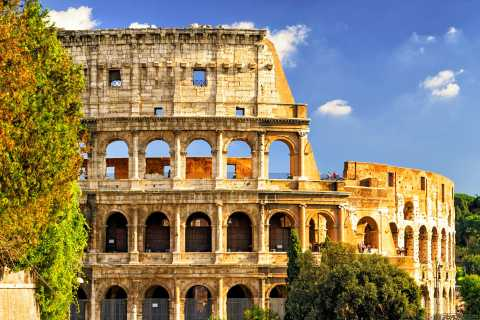 Rome: Colosseum and Gladiator Gate with Arena Floor