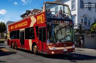 Alcatraz & Big Bus Premium: Tagesticket Hop-On/Hop-Off-Bus