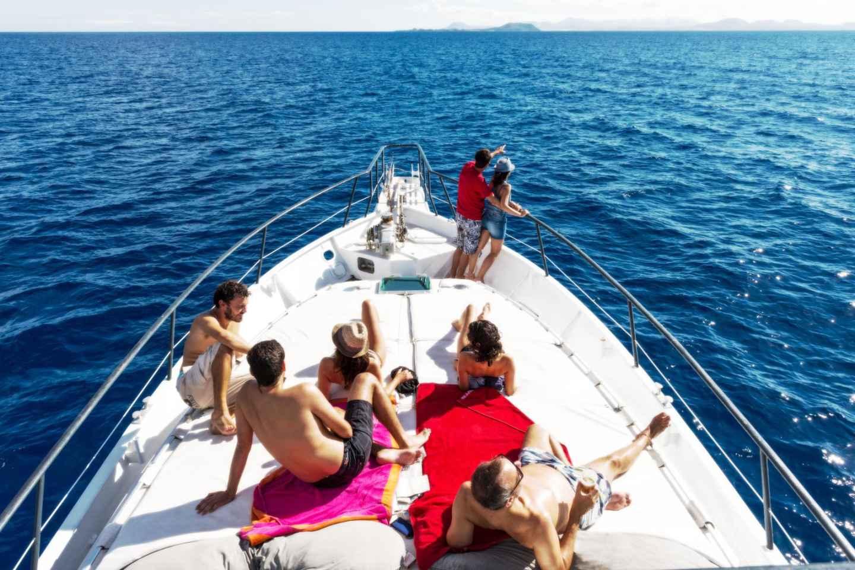 Lanzarote: Halbtägige Bootsfahrt am Strand Papagayo