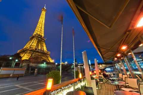 Paris: Sightseeing-Bootsfahrt und Abendessen im Bistro
