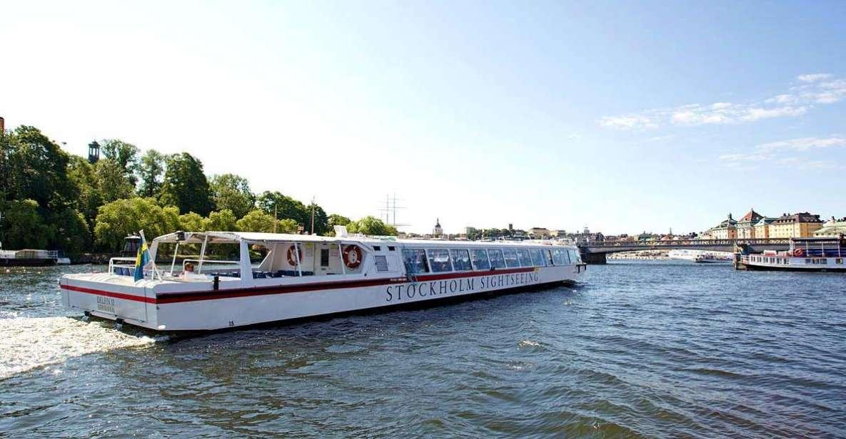 Stoccolma: tour in barca sotto i ponti della città