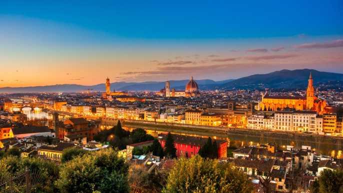 Tour nocturno por Florencia en bicicleta eléctrica con degustación de helado