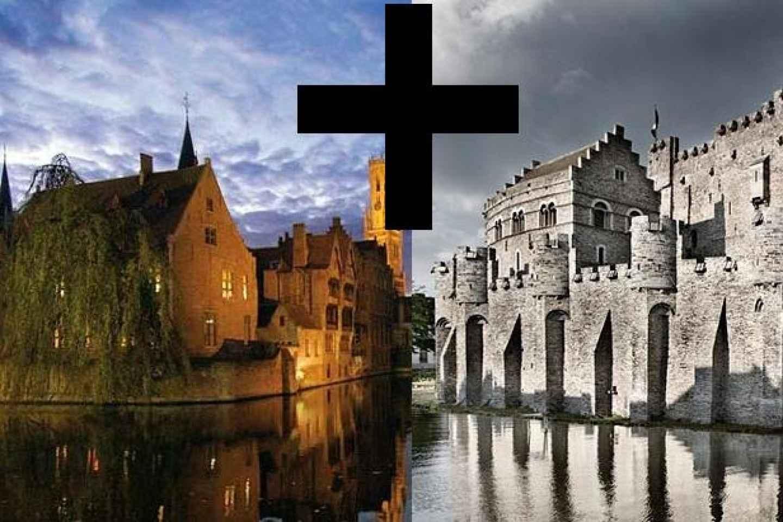 Ab Brüssel: Tagestour mit Führungen in Brügge & Gent