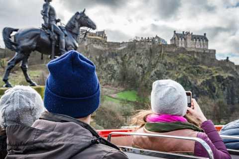 Edinburgh: Hop-On Hop-Off Bus Pass with 3 City Tours
