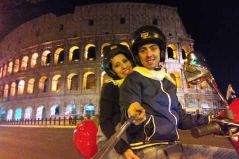 Explore Rome by Night with a Vespa