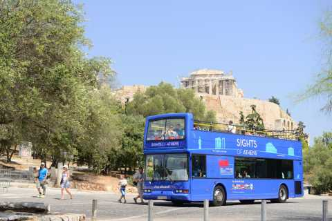 Athens, Piraeus, and Coastline: Blue Hop-On Hop-Off Bus