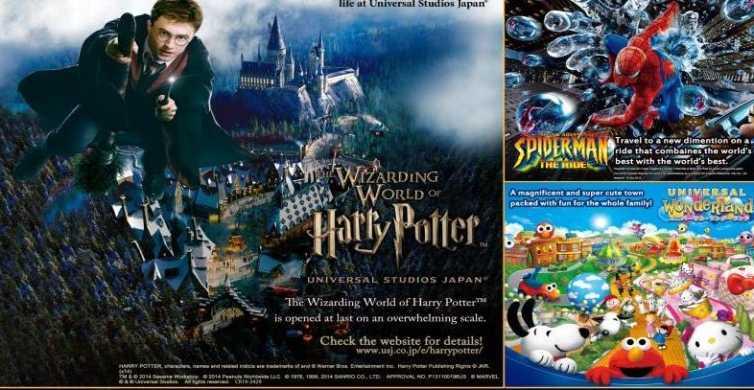 Osaka: Universal Studios Japan Entry Ticket &Transportation