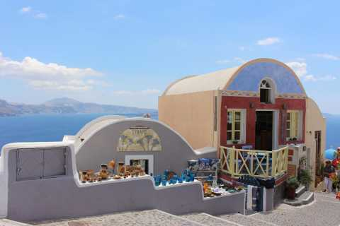 Santorini Island Bus Tour and Caldera Sunset Cruise