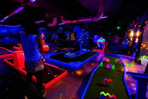 Prague: Glow Golf Mini Golf Game by UV Light