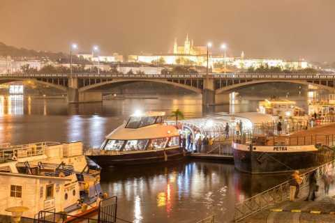 Prague: 3-Hour Dinner Cruise with Transfers