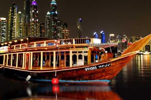 Dubai Marina : dîner-croisière sur un boutre avec transfert
